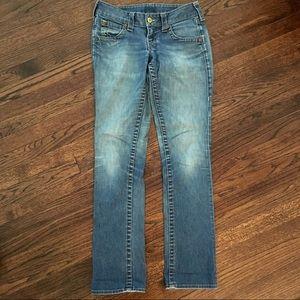 True Religion stonewash skinny jeans